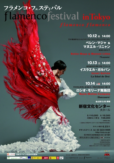 「 flamenco festival tokyo 2013 」のチラシ